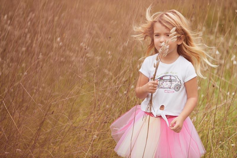 Детска блуза с изрязани елементи образуващи панделка Sarabanda 02565